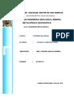 Pirometalurgia- III Examen Imprimir