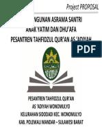 Cover Proposal Pesantren as Adiyah