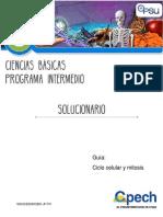 2017 CB31 Solucionario Guía 7 Ciclo Celular y Mitosis