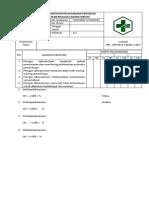 Daftar Tilik Pemantauan Pelaksanaan Prosedur Pemeriksaan Laboratorium