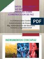 INSTRUMENTOS CERCAPAZ FORMADORES DE PAZ