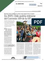 Chile Retirarse Convenio 169 OIT
