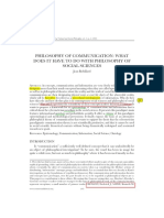 Philosophy of Communication With Soc Phi-JRobillard-2005