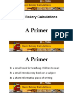 Basic Bakery Calcualtion