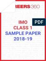 IMO sample paper 2018-19