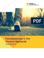 Homelessness in the Central Highlands - December 2019