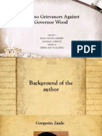 Filipino Grievances Against Governor Wood