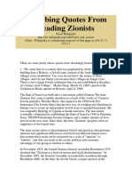 Disturbing Quotes From Leading Zionists