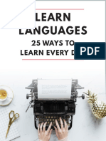 Learn Languages 25 Ways to Learn Every Day