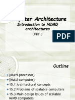 Introduction to MIMD Architecture