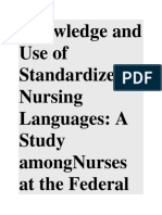 Knowledge and Use of Standardized Nursing Languages.docx