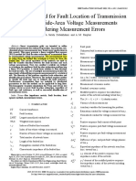 A novel method for fault location of transmission lines by wide-area voltage measurements considering measurement errors.pdf