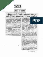 Ngayon, Dec. 4, 2019, Miguel Polo field alay ni Rep. Romero sa anak.pdf