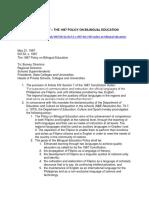 Bilingual Education Policy