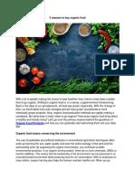 3 Reasons to Buy Organic Food
