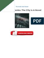Alexey Titarenko the City is a Novel Epub Downloads
