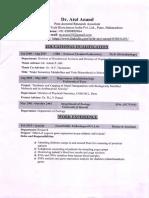 Atul Anand CV