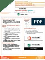 Formation Excel Niveau 2
