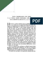 Nota Necrologica de Kehr y La Total Crisis Hispanica Del Siglo Xi Documentalmente a La Vista
