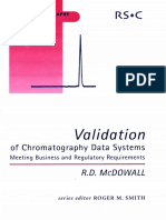 (RSC Chromatography Monographs) R D McDowall_ - Validation of Chromatography Data Systems _ Meeting Business and Regulatory Requirements-Royal Society of Chemistry (2005)