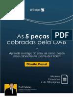 (E-BOOK) AS 5 PEÇAS + COBRADAS PELA OAB - PENAL
