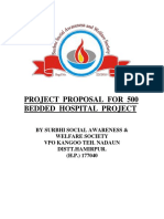 Project Proposal for 500 Bedded Hospital Project