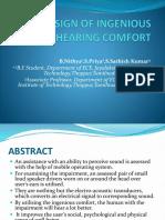 DESIGN OF INGENIOUS HEARING COMFORT