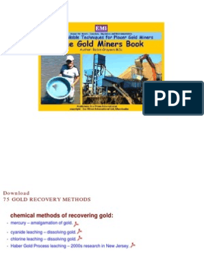 75 Gold Recovery Methods | Gold Mining | Gold