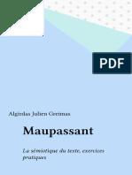 Maaupassant La Semiotique Du Texte