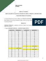 Câmara de Assis 2014-Gabarito