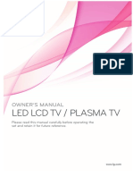 """Manual for 50"""" Plazma television from the Manufacturer """"LG"""""""