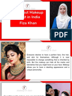 Fiza Khan- The Best Makeup Artist in India