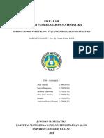 Makalah Hakikat, Karakteristik Dan Tujuan Pembelajaran Matematik-1