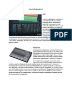 sound editing equipment