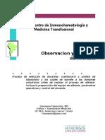 Observacion y Practica de Aferesis