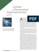 Could Blockchain Improve Pharm