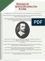 Marquages, Codes Poinçons d'Épreuve Historique (en Français)