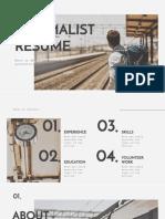 Minimalist Resume by Slidesgo