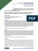 Andrea Lluch - Marca Registrada... Reflexiones Sobre El Uso de Las Marcas Comerciales, El Consumo y La Comercialización de Bienes en El Mundo Rural Argentino (1900-1930)
