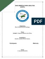 Tarea 1 Ética profesional del psicólogo Aspectos Básicos de La Ética