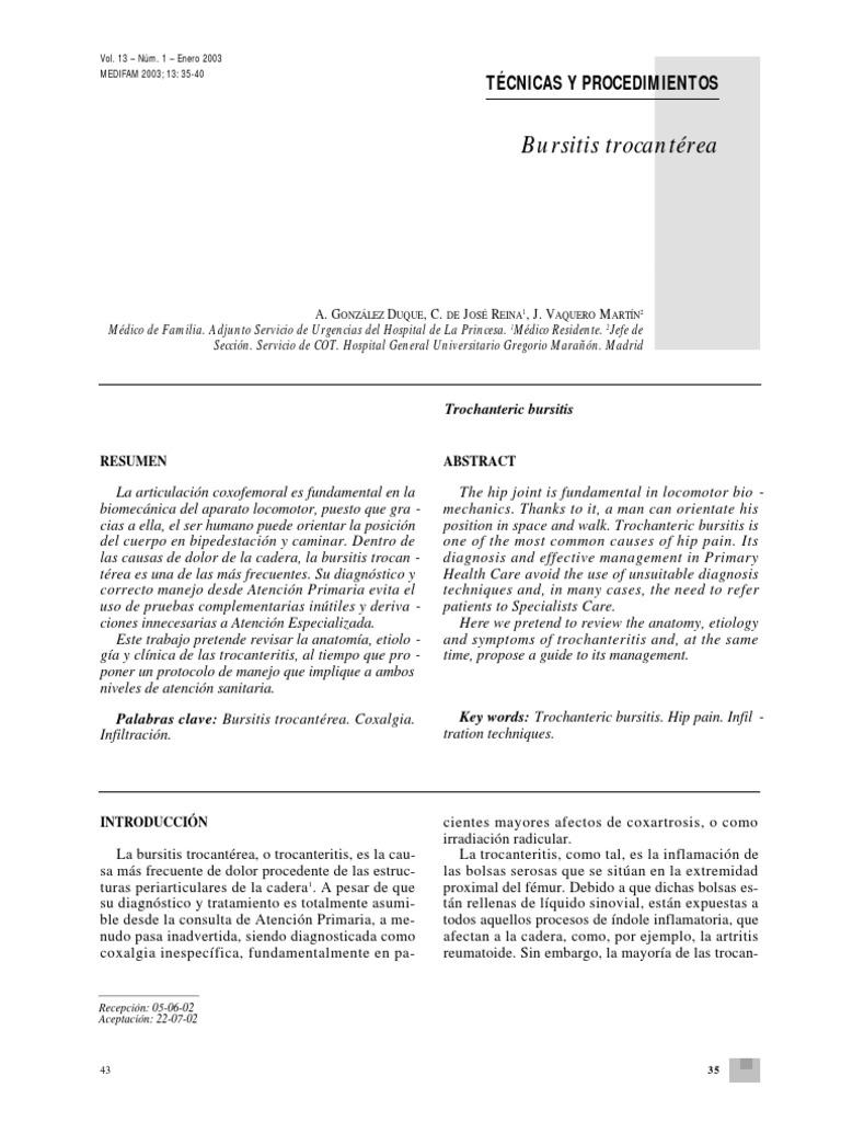 Bursitis Troncanterea