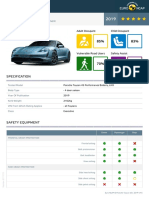 Euroncap 2019 Porsche Taycan Datasheet