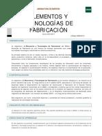 GUIA ELEMENTOS Y TECNOLOGÍAS DE FABRICACIÓN