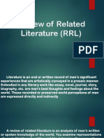 Review of Related Literature RRL