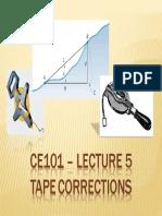 CE101 LEC5 Tape Correction