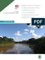 Saberes Ancestrales Sobre Cambio Climatico Investigaciones