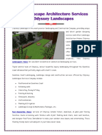 Best Landscape Architecture Services