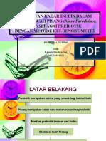 Penentuan Kadar Inulin Dalam Ekstrak Buah Pisang (