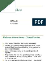 Balance Sheet-Part1-Classification of Assets