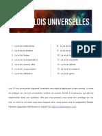 14 lois universel